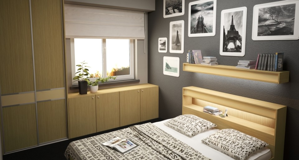 Półka w zagłówku łóżka