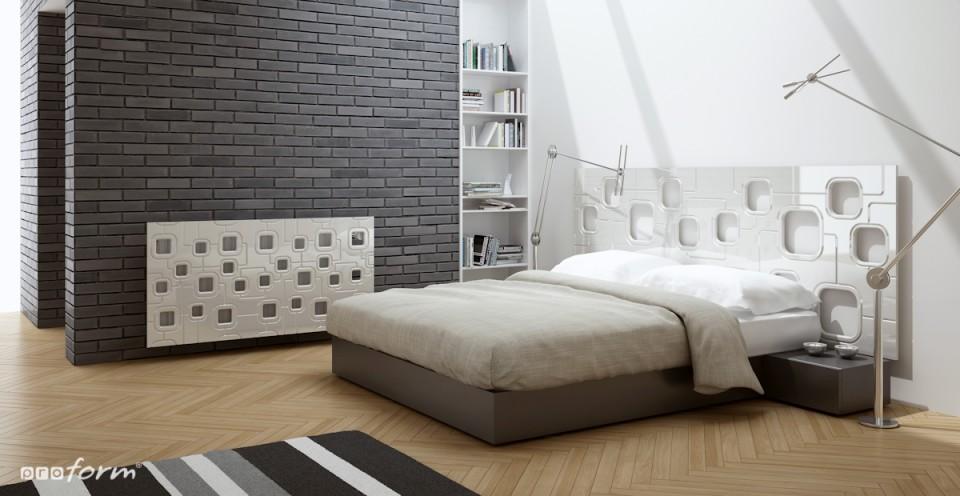 osłona na kaloryfer w sypialni