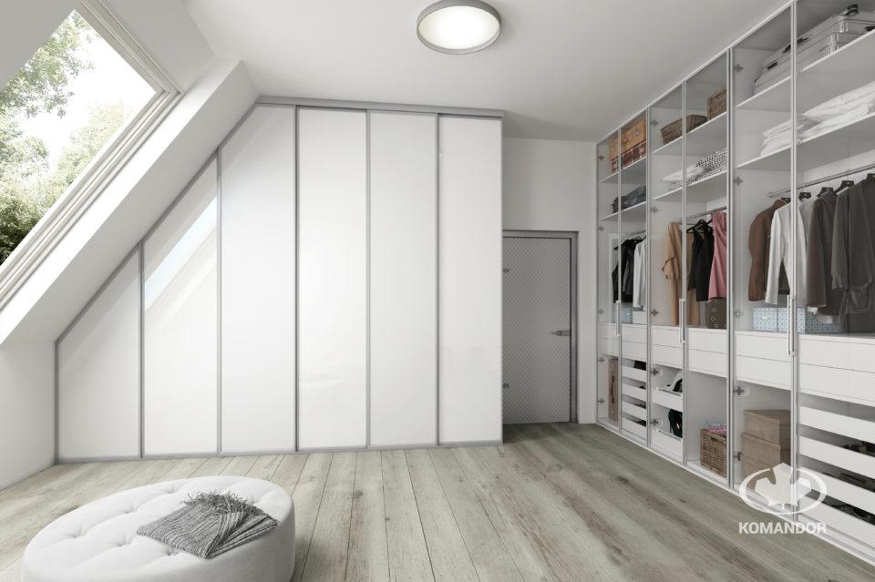 kolory we wnętrzu garderoba biała