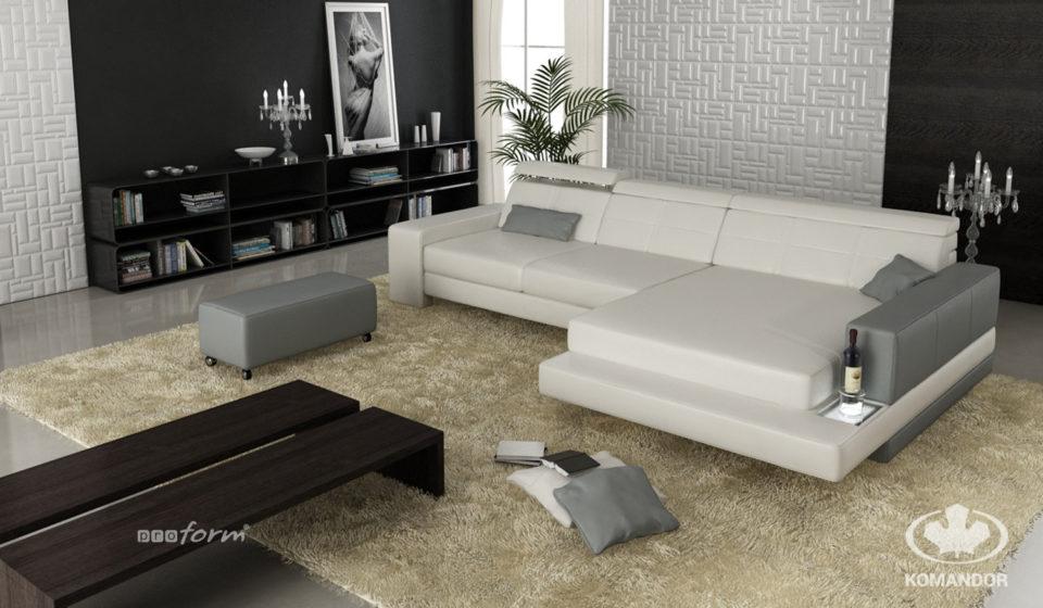 jak urządzić nowoczesny salon w bloku z sofą