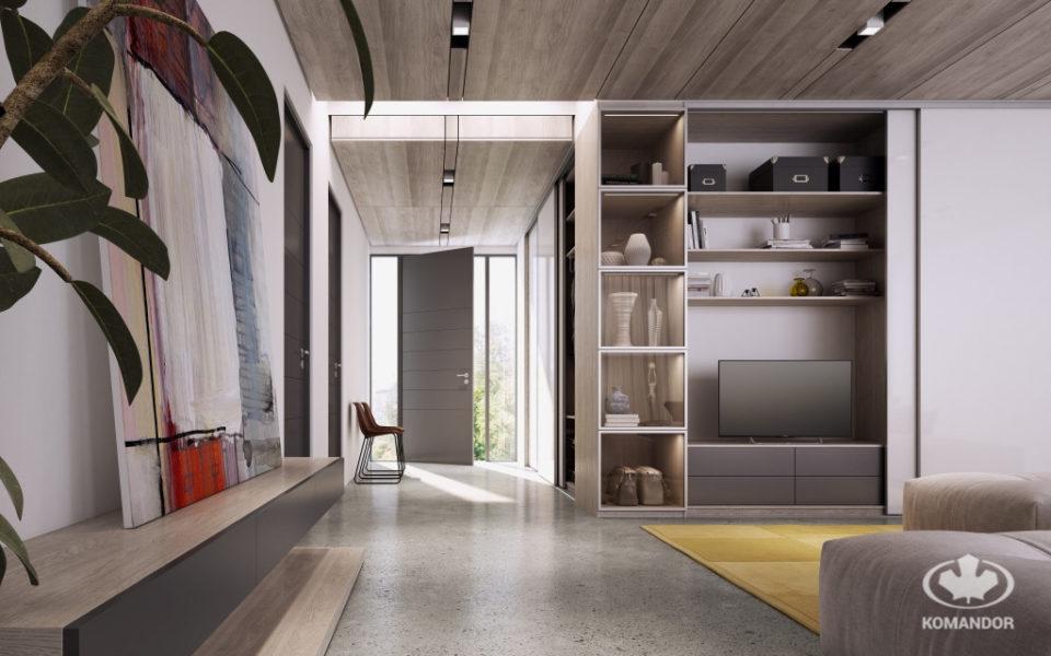 Przytulne mieszkanie z szafą na wymiar