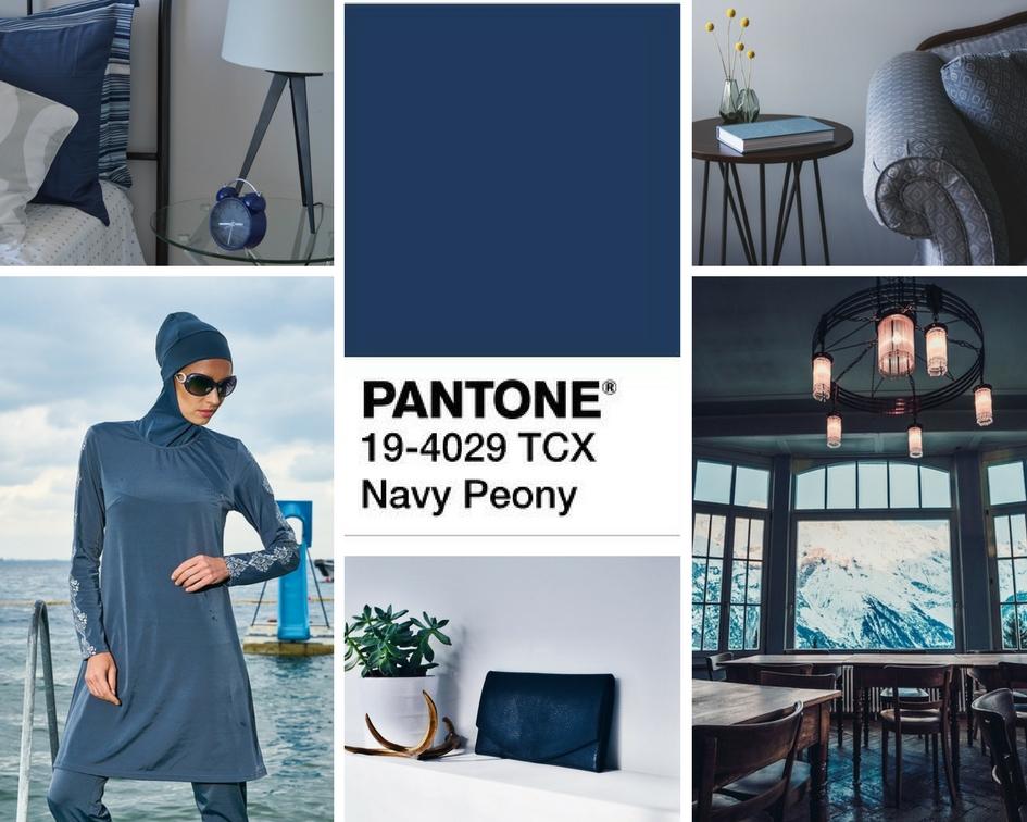 kolory jesieni 2017 Navy peony