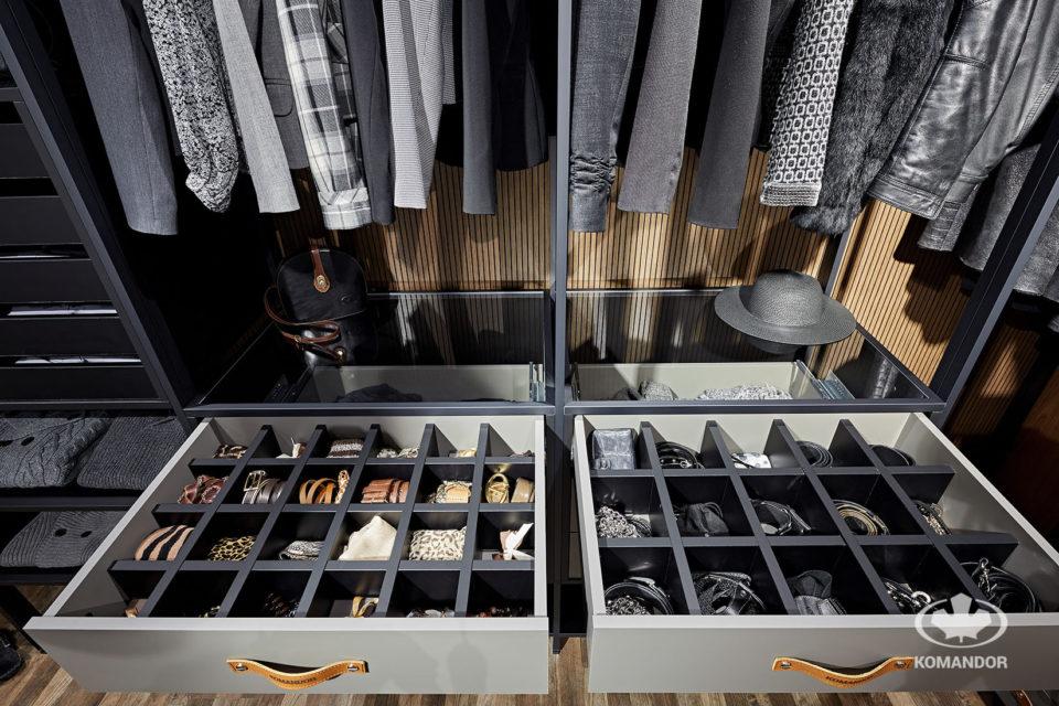 Porzadki w szafie - wkłady na rzeczy drobne