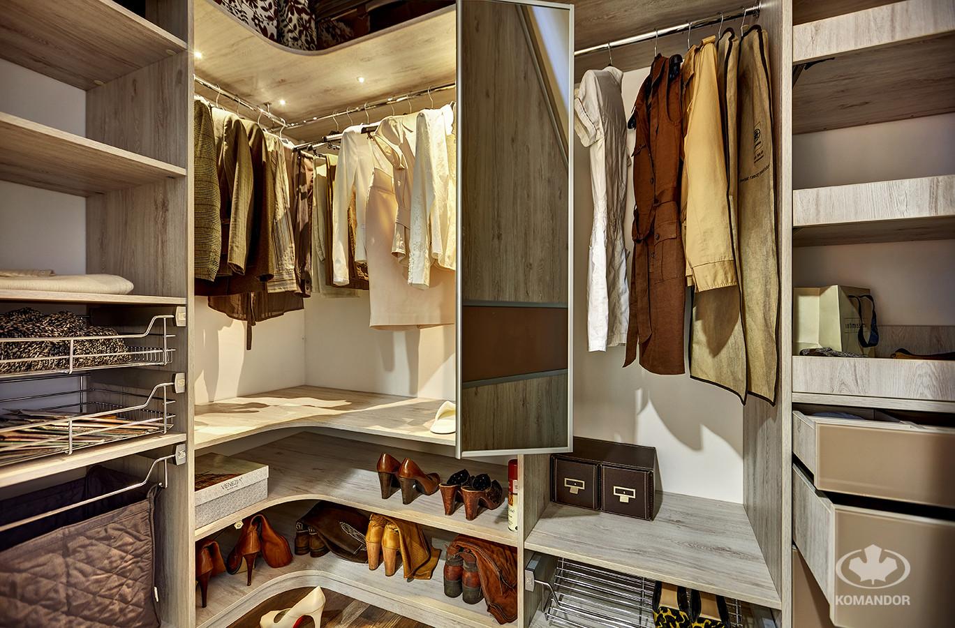 Akcesoria do szafy chromowane Komandor