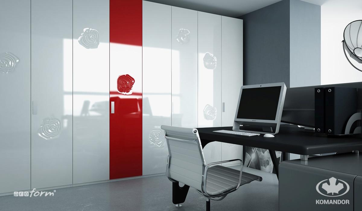 drzwi uchylne do szafy w domu i w biurze