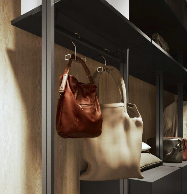 mobilny i przenośny wieszak na torebki
