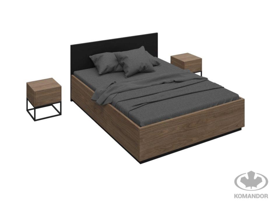 Łóżko i szafki nocne do sypialni linia One