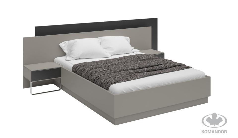 łóżko Modern z 2 wezgłowiami do małej sypialni