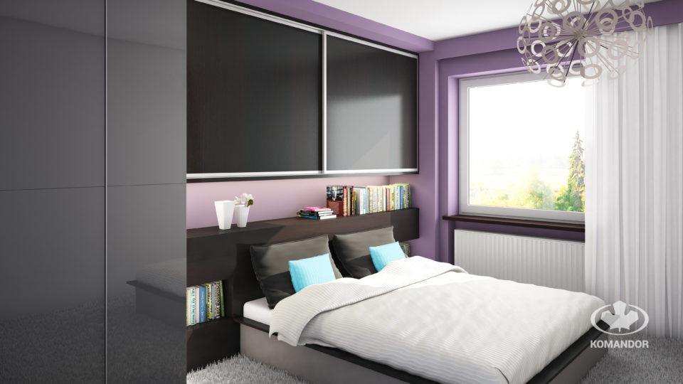 szafa na wymiar w sypialni w kawalerce