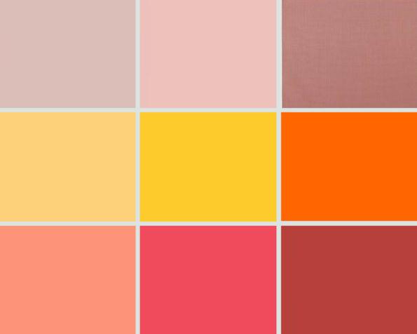 Targi wnętrz Mediolan 2018 - paleta kolorów - czerwienie i róże
