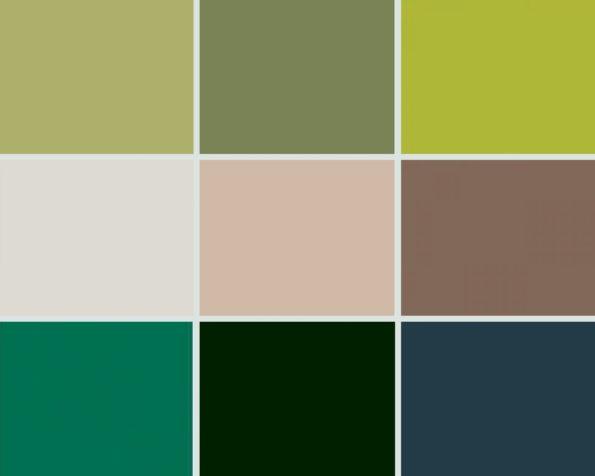 Targi wnetrz Mediolan 2018 0 paleta kolorów zieleń i kolory ziemi