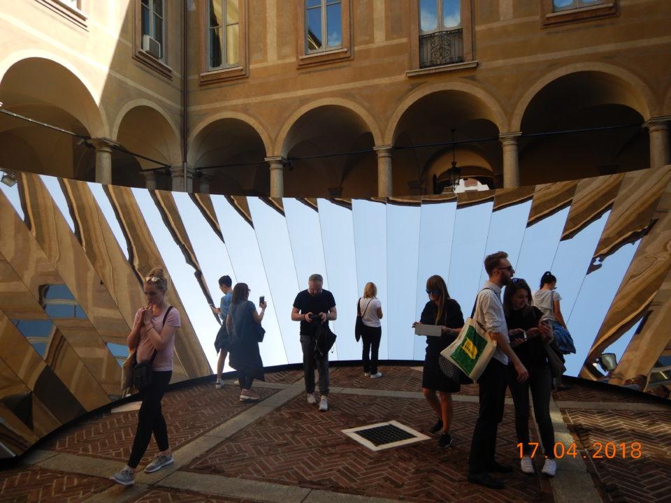 targi wnętrz Mediolan 2019 instalacja zewnętrzna