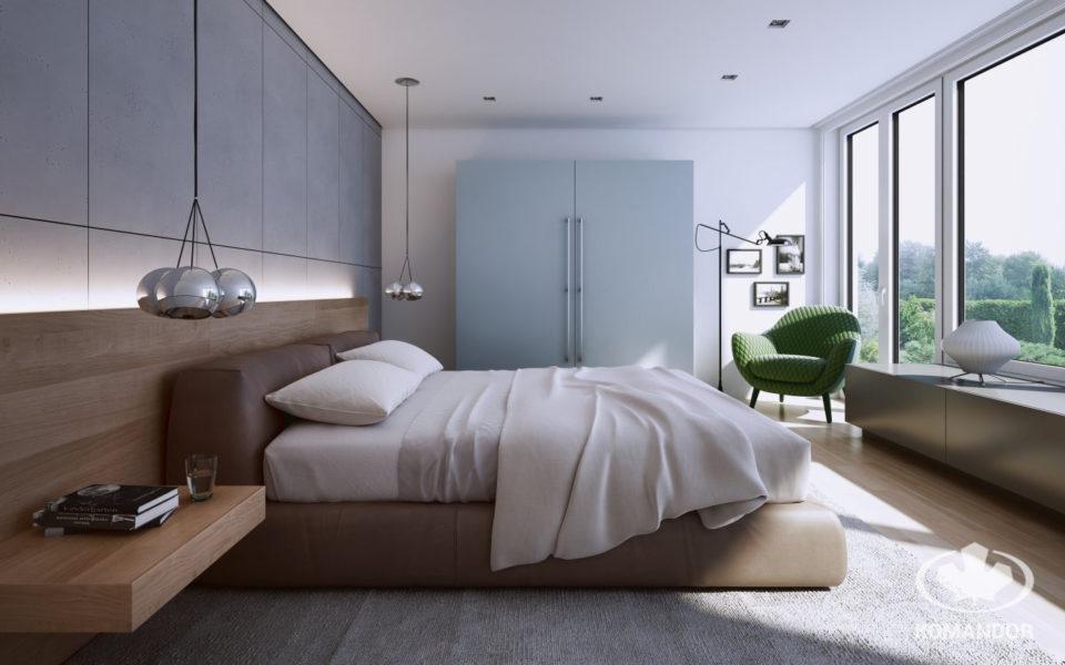 Meble w jasnej sypialni