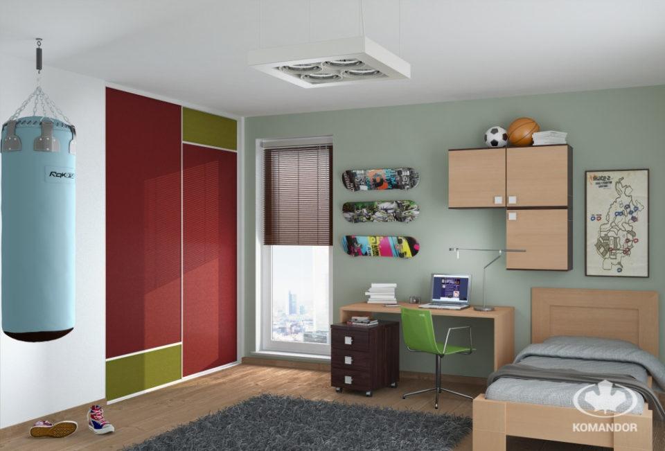 jednoosobowe łóżko w pokoju dziecięcym