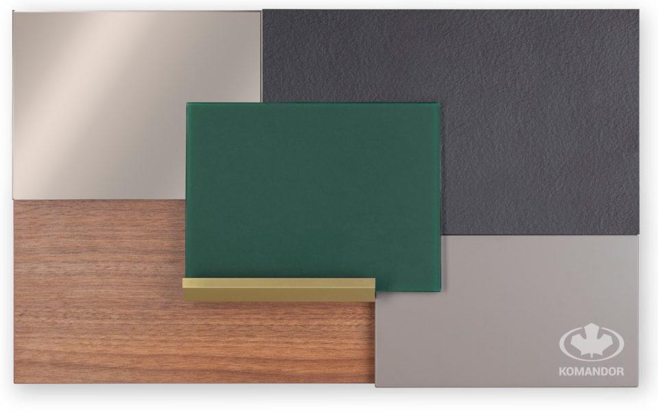 tablica inspiracji kolorow do mebli i wnetrz z zielenia